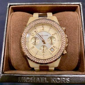 Women's Michael Kors Watch - Horn & Gold
